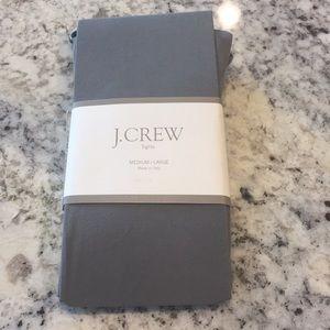 J. Crew Italian gray tights